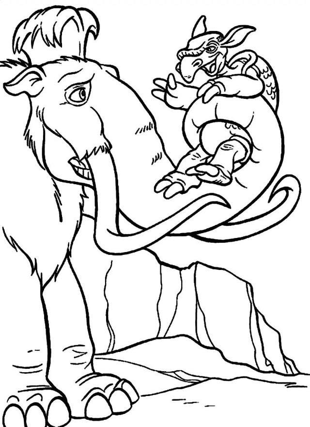 Coloriage Dinosaure Lage De Glace 1001 Animaux