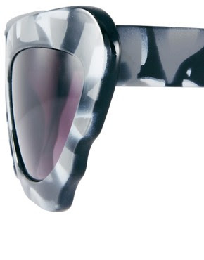 Image 4 of ASOS Monochrome Extreme Cat Eye Sunglasses