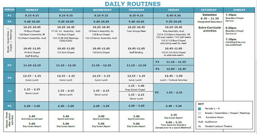 Daily Schedule Of College Student | Daily Planner