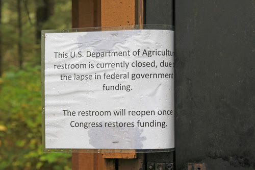 close up of Government Closed sign at Ward Lake, Ketchikan, Alaska