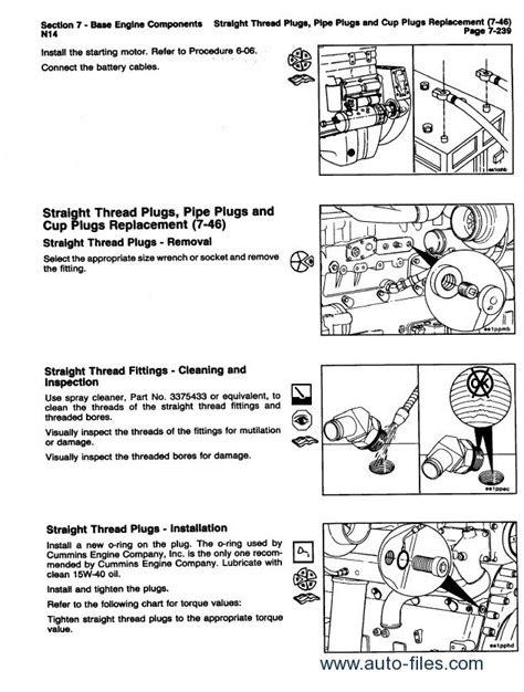 Cummins N14 Engines Shop & Troubleshooting 1991-1992