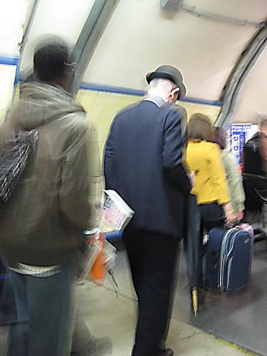 King's Cross Bowler Hat and Umbrella