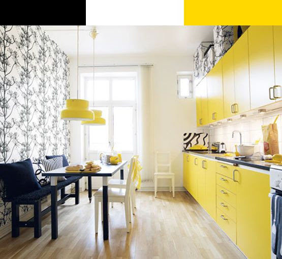 Yellow kitchen :)