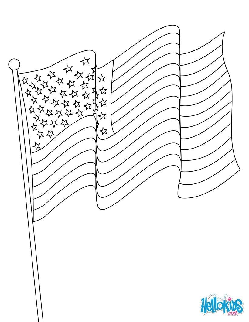 Dibujos Para Colorear Bandera Americana Eshellokidscom