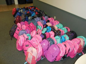 Packed Backpacks