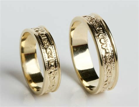 10K Gold Irish Handcrafted Irish Claddagh Celtic Wedding