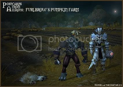 Postcards of Azeroth: Furlbrow's Pumpkin Farm, by Rioriel of theshatar.eu