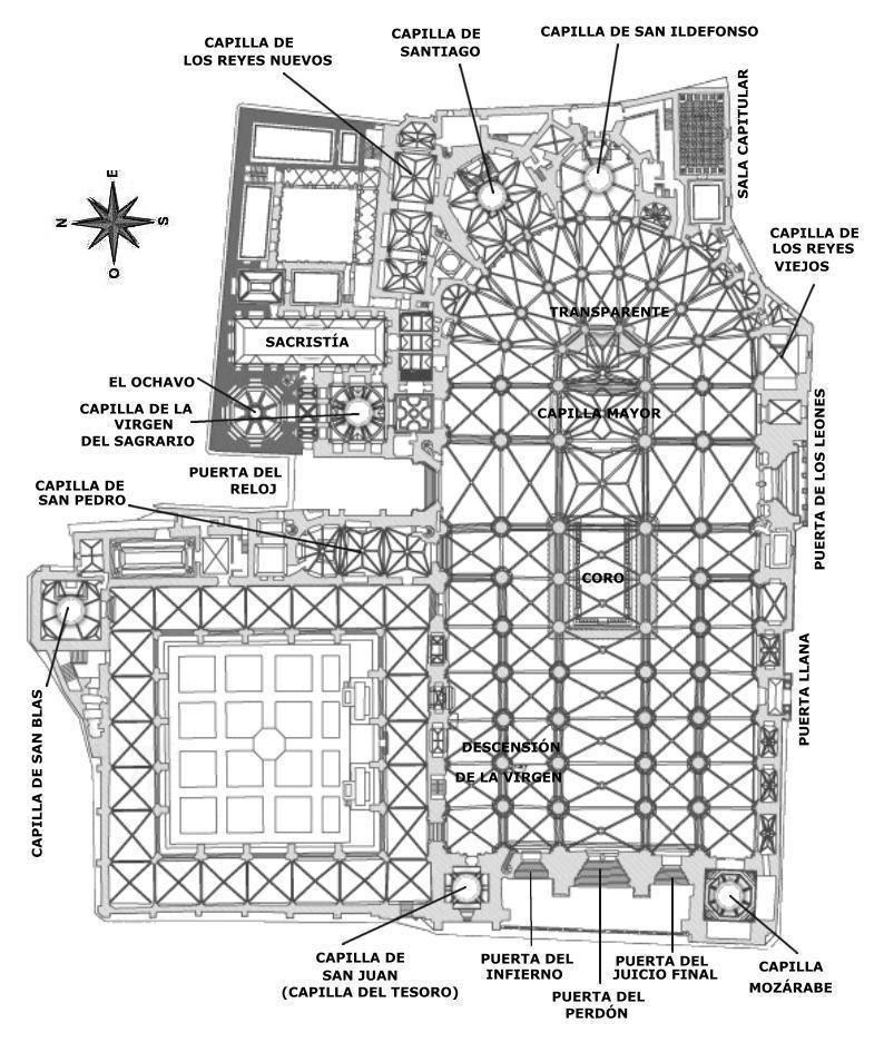 Resultado de imagen de plano catedral de toledo