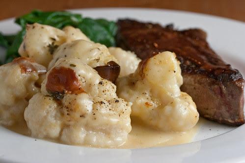 Brunost Liver and Cauliflower