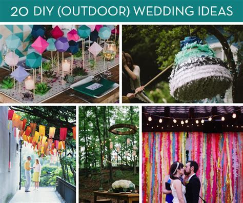 Roundup: 20 Amazing DIY Outdoor Wedding Ideas   Curbly