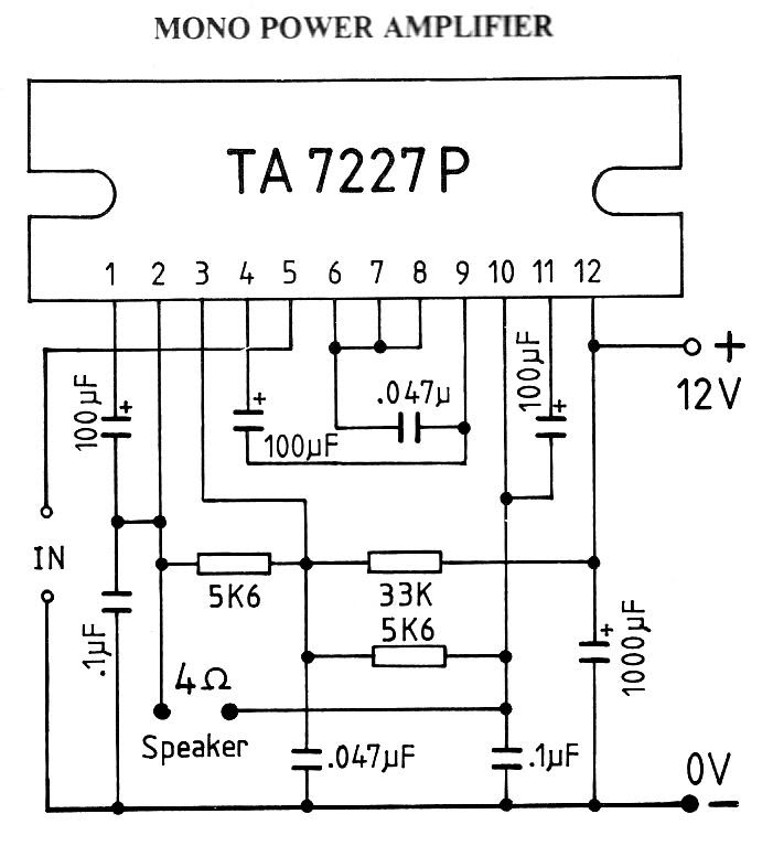 12v subwoofer amplifier circuit manual