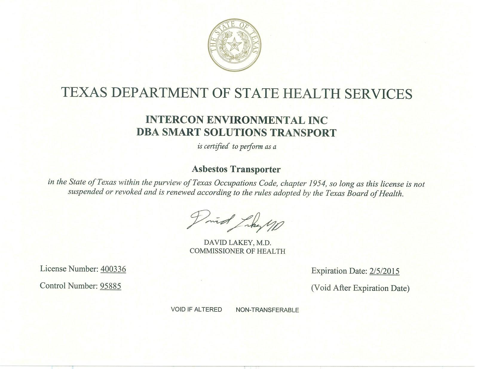 Intercon Environmental Inc. - Dallas - Ft. Worth ...