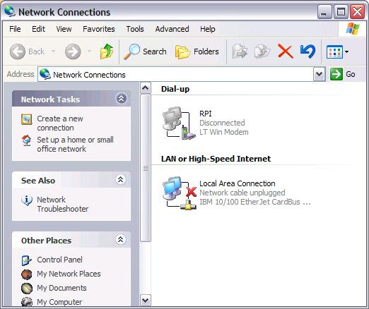 Windows XP Network Settings | Division of the Chief ...