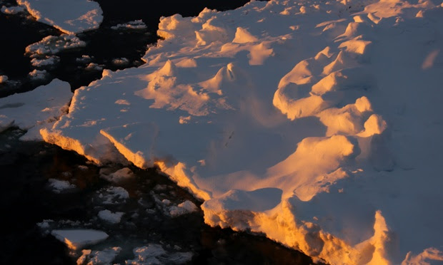 Antarctica Live: dawn light on ice
