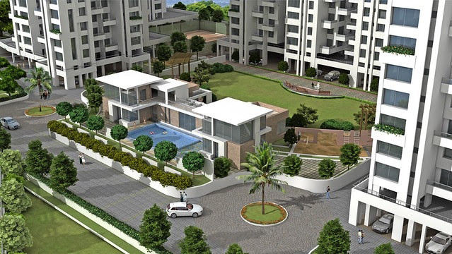 Club House and Teerth Realties' Teerth Towers, 2 BHK & 3 BHK Flats at Baner Sus Pune