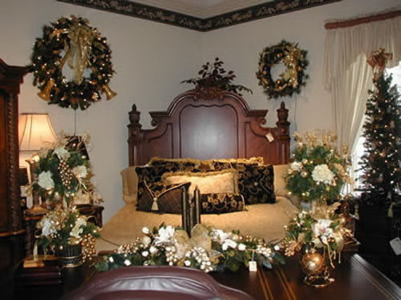interior theme christmas bedroom decorating ideas family holiday christmas bedroom - Christmas Bedroom Decor Ideas