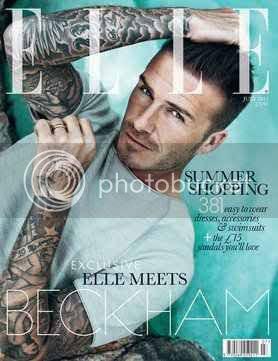 David Beckham Elle UK Cover July 2012 Issue