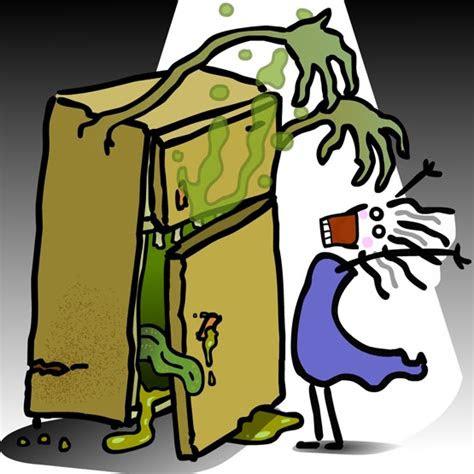 animated woman zombie fridge