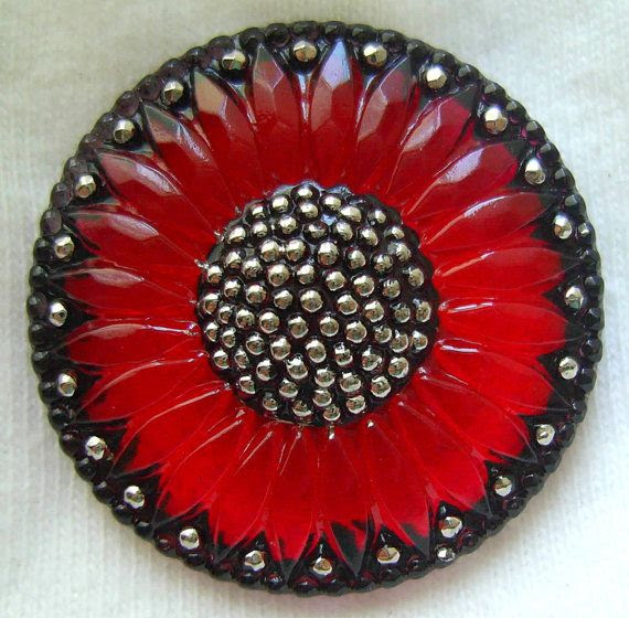 Czech Glass Button