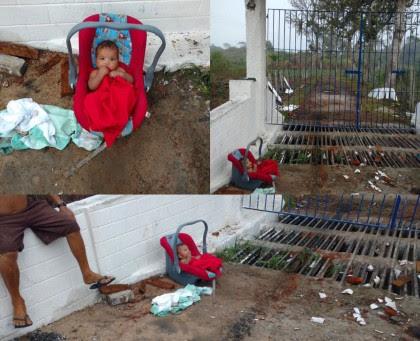 Bebê foi encontrado na zona rural (Foto: Divulgação)