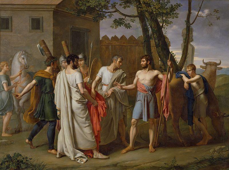 File:Cincinato abandona el arado para dictar leyes a Roma, c.1806 de Juan Antonio Ribera.jpg