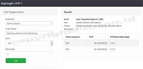 Cek Ongkos Kirim Dengan RajaOngkir PHP 7 oleh - seputarphp.xyz
