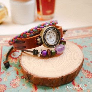 amethyst bracelet customized female watches   Tophandmade - Jewelry on ArtFire