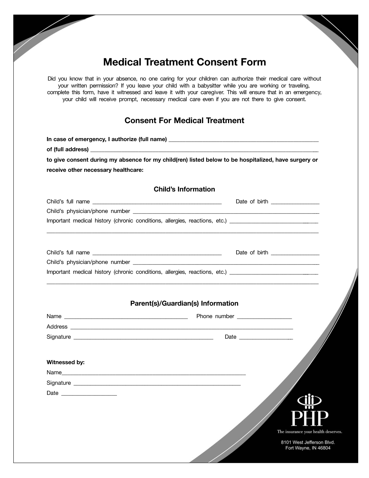 NEW FREE EMERGENCY RELEASE FORM FOR BABYSITTER Free Printable Medical Proxy Forms on free real estate, free printable wills forms, free printable guardianship forms, free printable home forms,