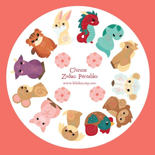 little dear tracks chinese zodiac printables. Black Bedroom Furniture Sets. Home Design Ideas
