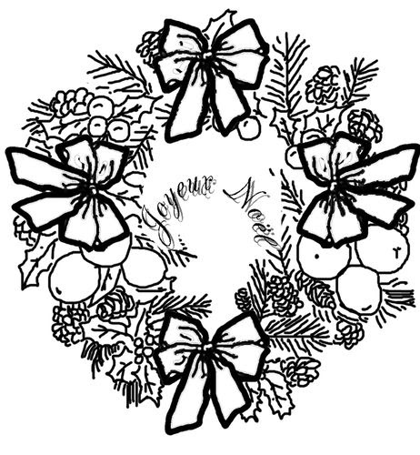 Coloriage Couronne De Noël Le Blog De Ludovica