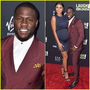 Kevin Hart & Pregnant Wife Eniko Parrish Celebrate Laugh Out Loud Launch!