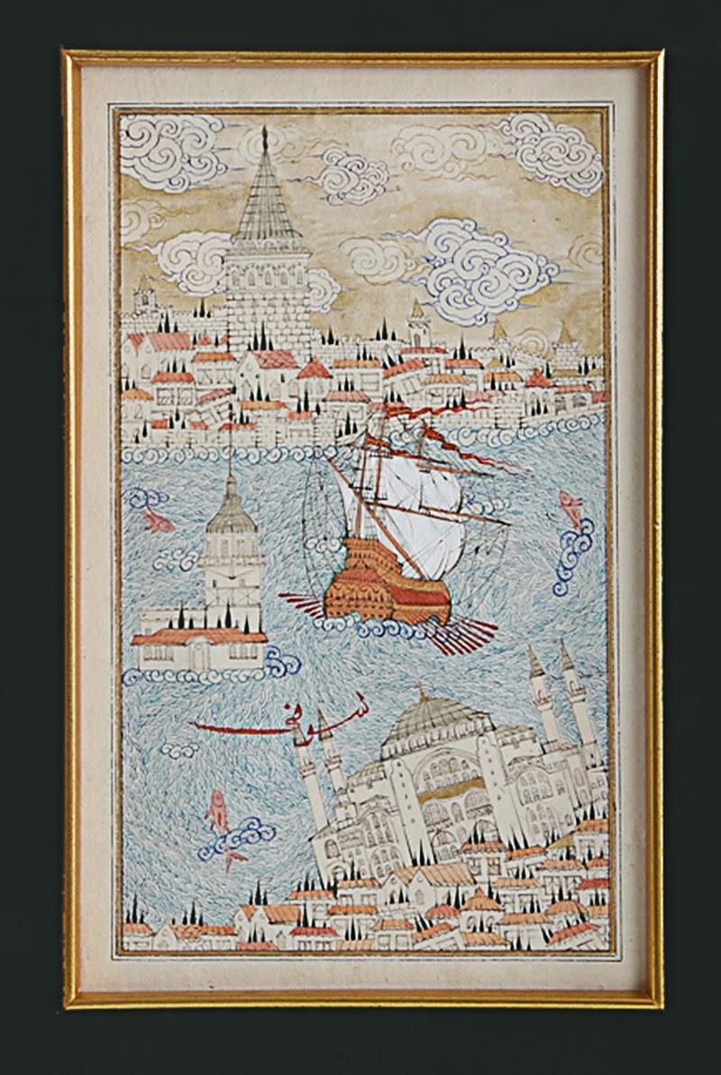 Ayasofya Galata Kız Kulesi üçlemesi Ofis Taner Alakuş Minyatür