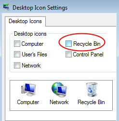 Windows 7 Where Recycle Bin Went