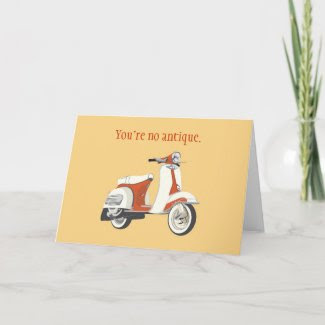 Scooter Birthday Card card