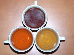 Red, black and green tea