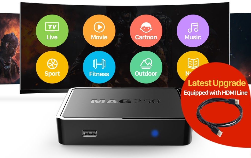 Buy MAG 250 Iptv Set Top Box one year European Subscription