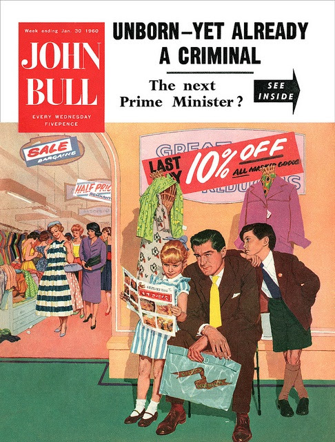 All sizes | Illustration by Batchelor for the cover of John Bull magazine. | Flickr - Photo Sharing!