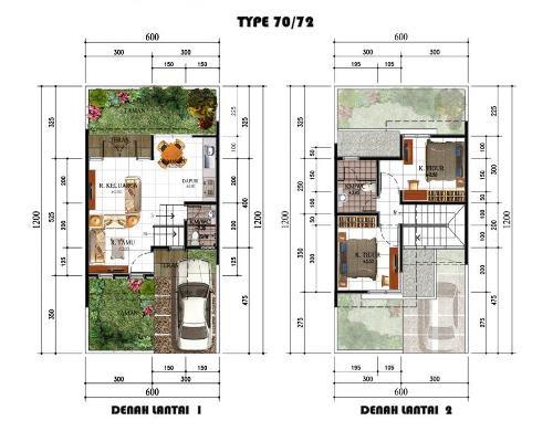 Arsitektur Rumah Minimalis Type 70 2 Lantai Yang Menawan