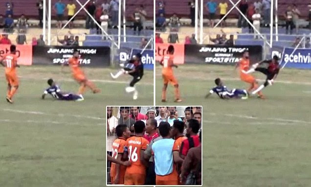 Indonesian soccer player killed by horrific kick to stomach
