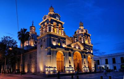 La catedral, en el área fundacional de Córdoba.