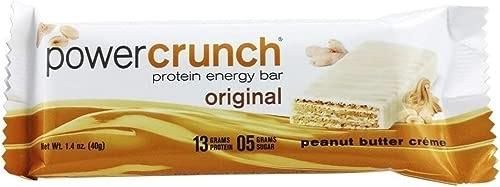 Best 2020 - Power Crunch - Protein Energy Wafer Bar Peanut Butter Creme - 1.4 oz.