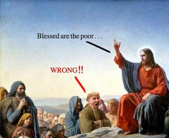 Image result for trump jesus pax on both houses poor