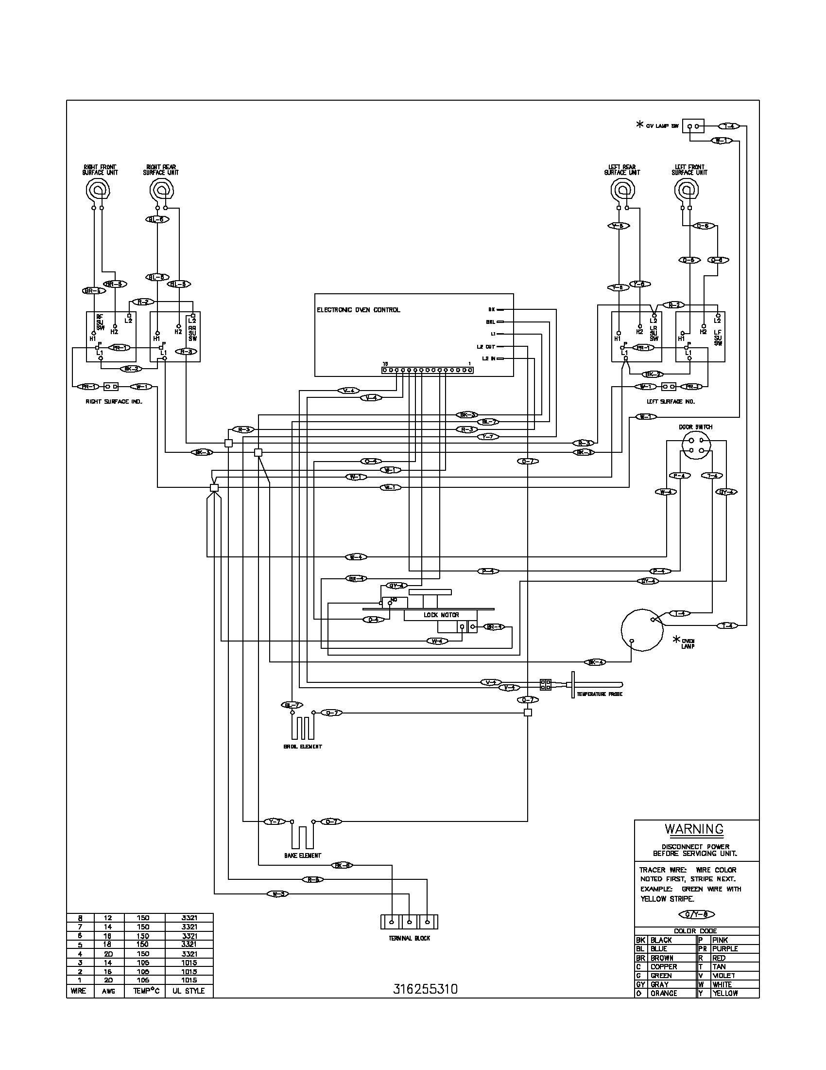 electric stove wiring diagram image 5