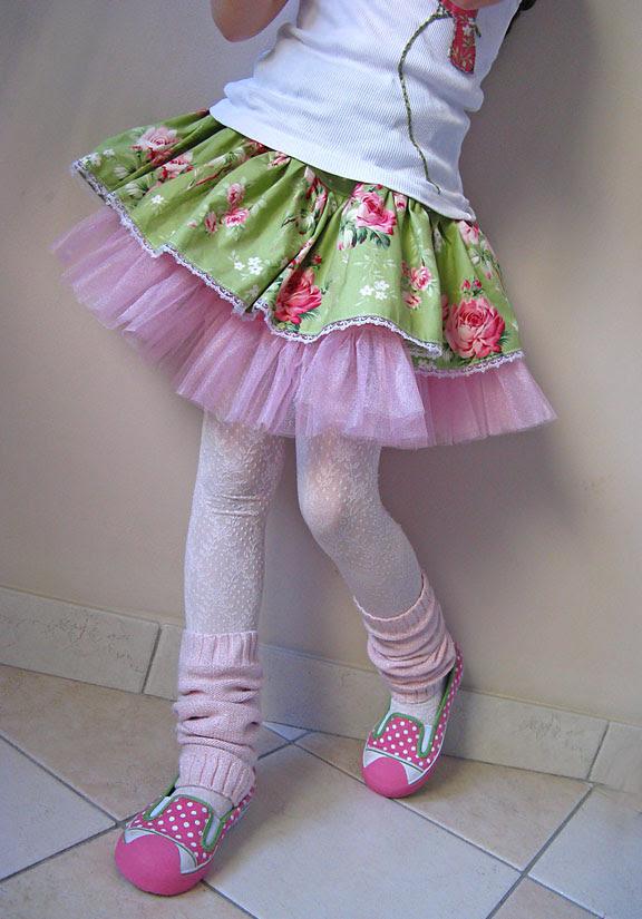 barefoot roses shabby skirt