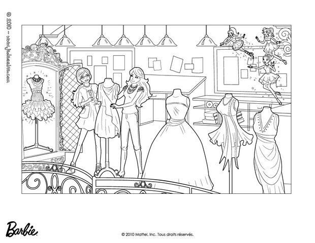 Coloriages Barbie Et Alice Font Des Essayages Frhellokidscom