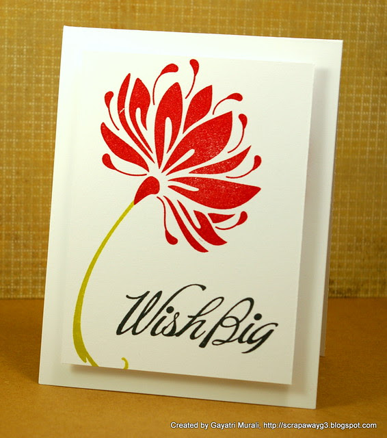 Wish Big card