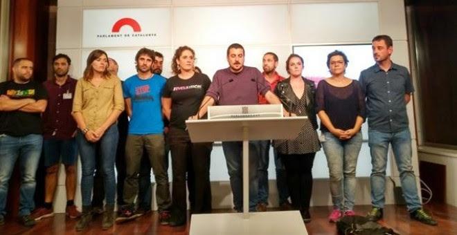 La CUP da un mes a Puigdemont para negociar y no descarta abandonar el Parlament. /EUROPA PRESS