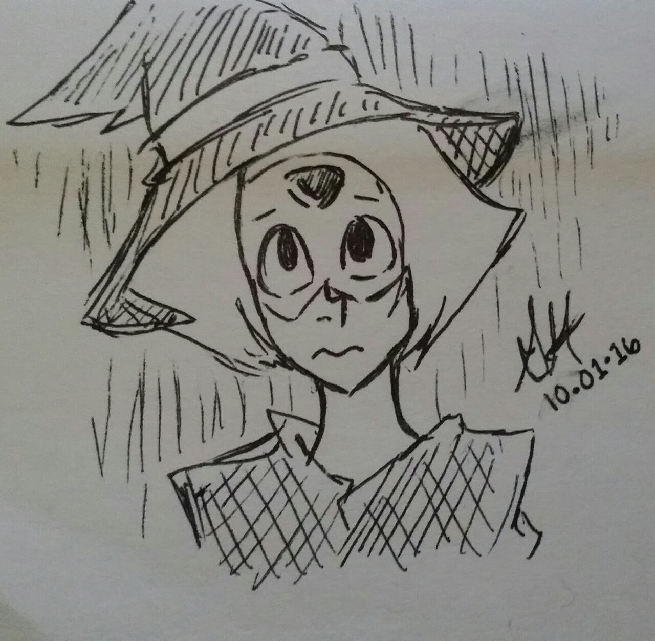 My first Tumblr post - Witch Peridot, Inktober day 1