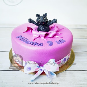 Tort Urodzinowy Z Kotami
