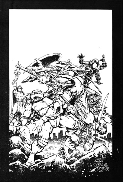 'The Forever War'   Unused TMNT Adventures #73 cover..((TMNTA story Never released)) [[courtesy of S. Murphy]]